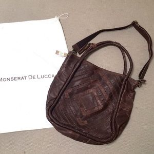 Monserat De Lucca Patchwork Leather Bag in Brown